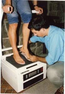 Moulage semelles SIDAS Conform'able Hoftetter sports 1988