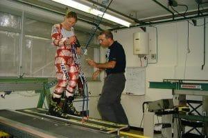 Pose capteurs Carole Montillet R&D Rossignol Voiron 2002