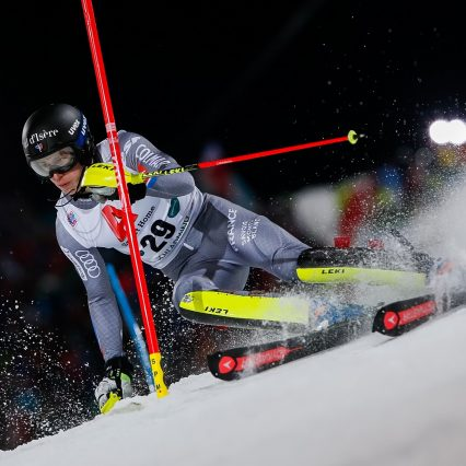 SCHLADMING, AUSTRIA - JANUARY 23: Clement Noel of France competes during the Audi FIS Alpine Ski World Cup Men's Slalom on January 23, 2018 in Schladming, Austria. (Photo by Alexis Boichard/Agence Zoom)
