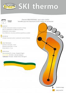 Total Feet Fiche technique semelle Ski confort Thermo