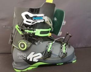 chaussure de ski gros mollet Dame détail modifications face avant