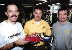 Cycling orthotics for Stephen ROCHE, 1998