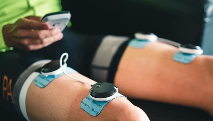 Electrostimulation muscles cuisses COMPEX