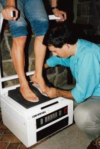 Custom molding skiboot footbeds 1987