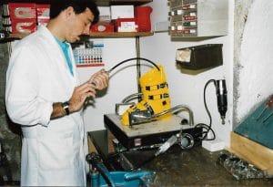 Shoedog at work 1987