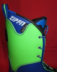 Zipfit Racing liner by TOTAL FEET lateral cuff view
